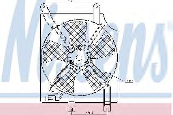 Вентилятор, конденсатор кондиционера NISSENS 85354