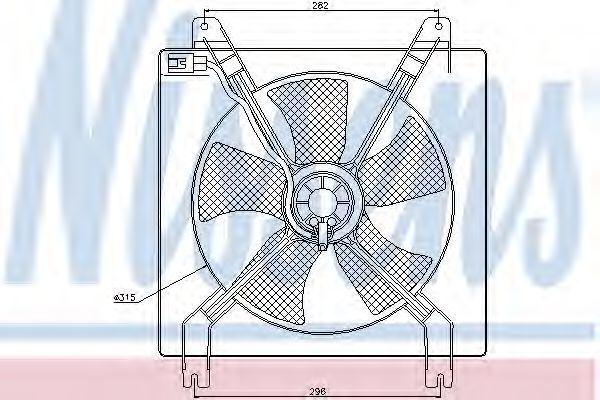 Вентилятор радиатора NISSENS 85355