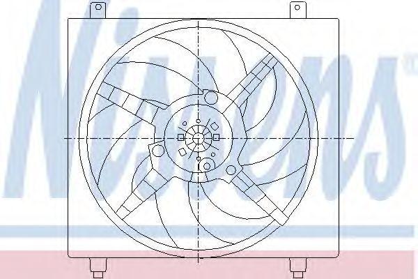 Вентилятор радиатора NISSENS 85362
