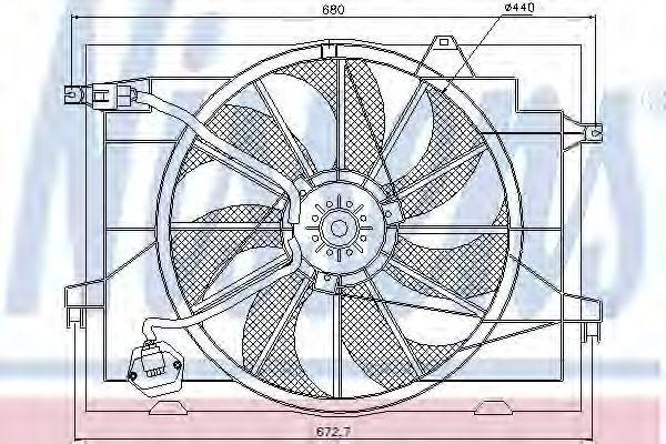 Вентилятор радиатора NISSENS 85366