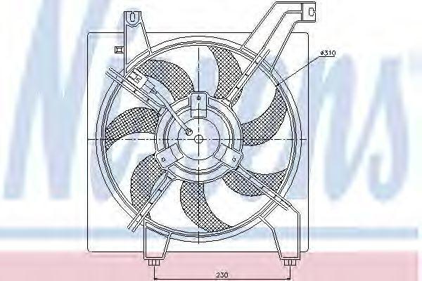 Вентилятор радиатора NISSENS 85368