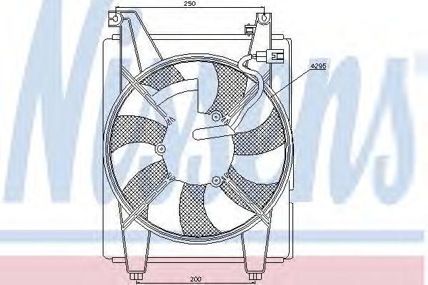 Вентилятор, конденсатор кондиционера NISSENS 85369