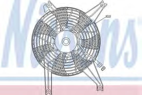 Вентилятор радиатора NISSENS 85383