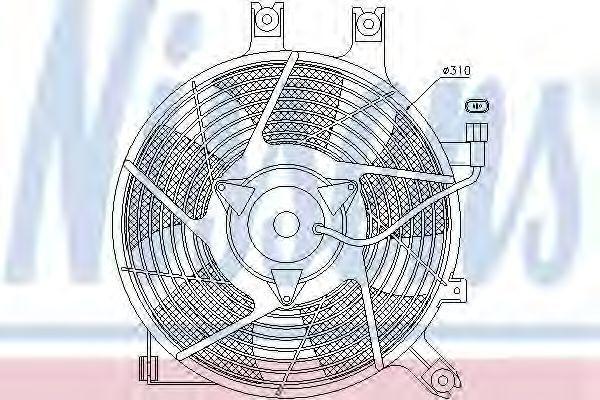 Вентилятор радиатора NISSENS 85384