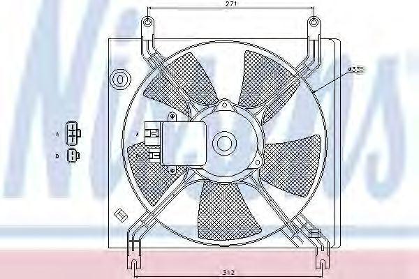 Вентилятор, охлаждение двигателя NISSENS 85390