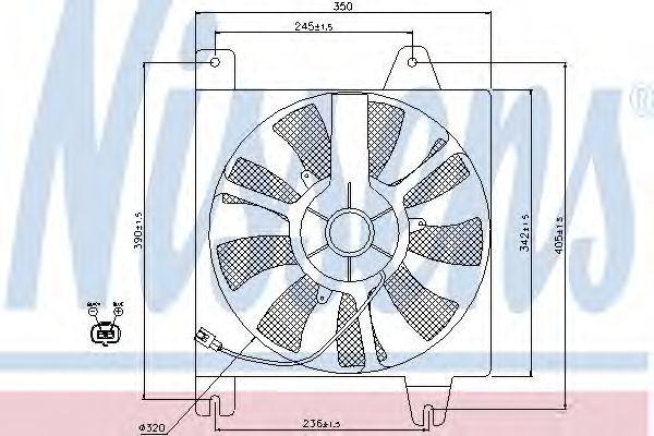Вентилятор, конденсатор кондиционера NISSENS 85392