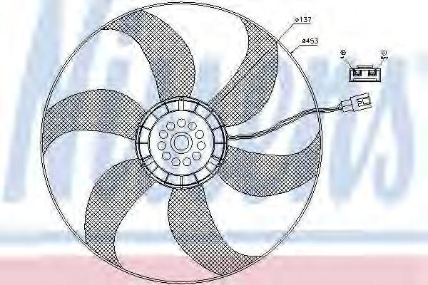 Вентилятор радиатора NISSENS 85403