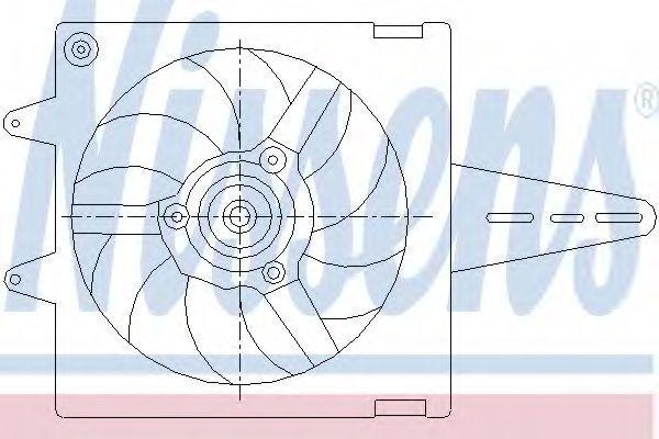 Вентилятор радиатора NISSENS 85427