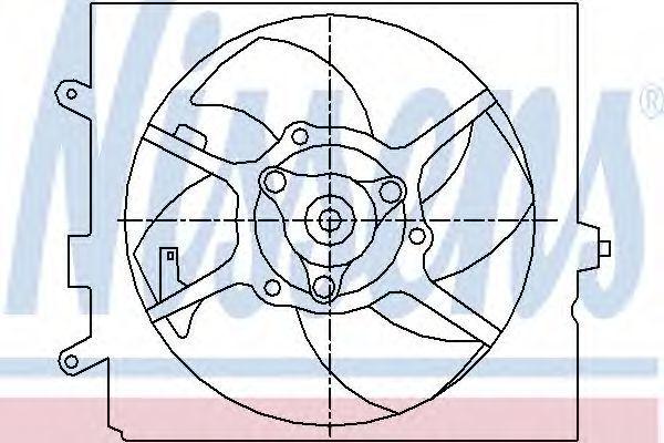 Вентилятор, охлаждение двигателя NISSENS 85443