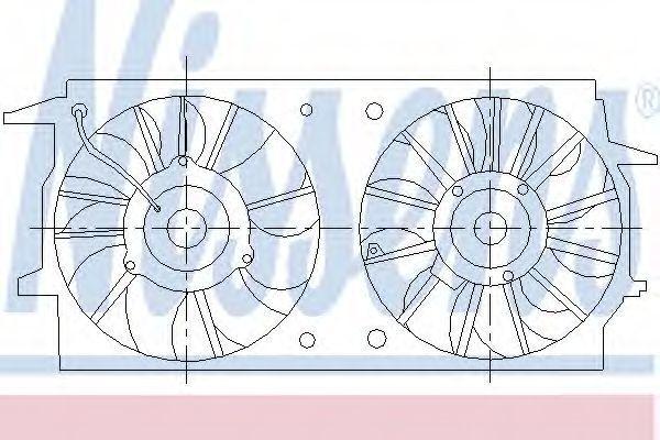 Вентилятор радиатора NISSENS 85461