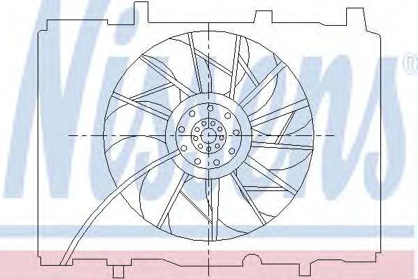 Вентилятор радиатора NISSENS 85489