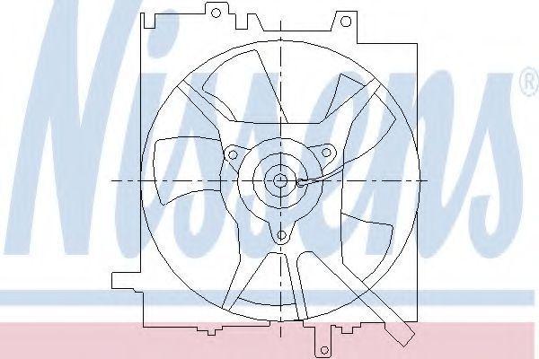 Вентилятор, охлаждение двигателя NISSENS 85490