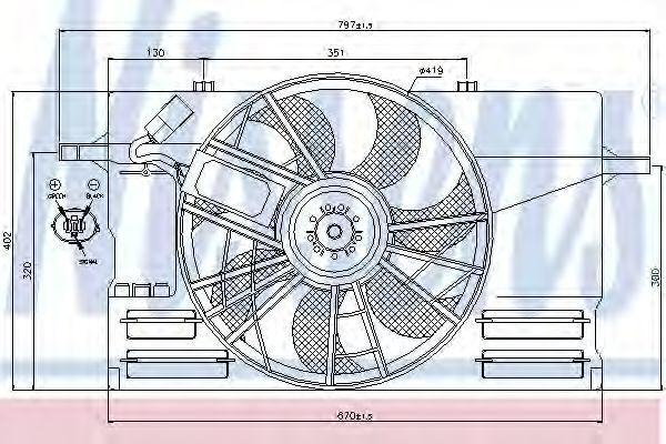 Вентилятор радиатора NISSENS 85492