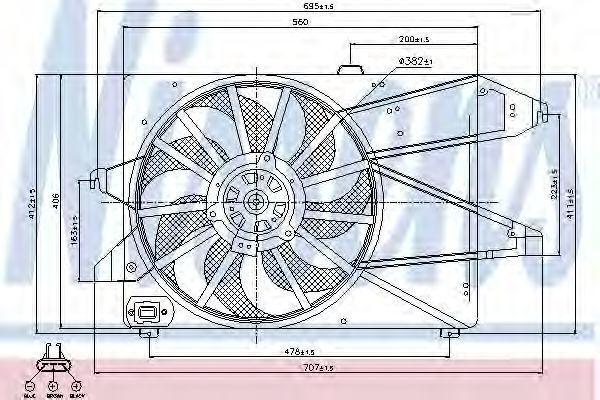 Вентилятор радиатора NISSENS 85505