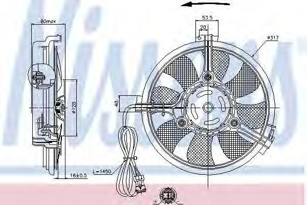 Вентилятор радиатора NISSENS 85519