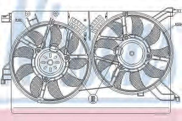Вентилятор радиатора NISSENS 85523
