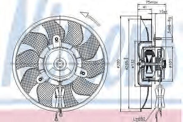 Вентилятор радиатора NISSENS 85548