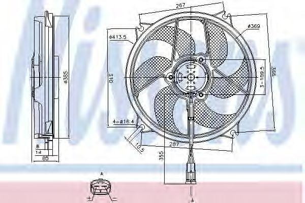 Вентилятор радиатора NISSENS 85561
