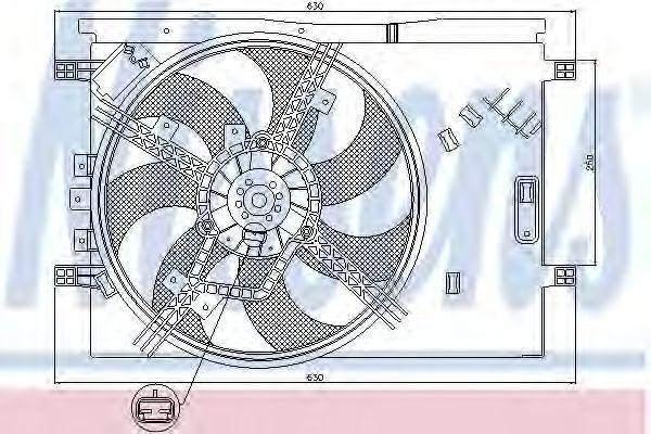 Вентилятор радиатора NISSENS 85563