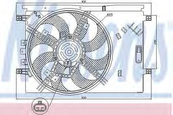 Вентилятор радиатора NISSENS 85564