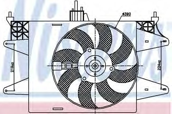Вентилятор радиатора NISSENS 85572