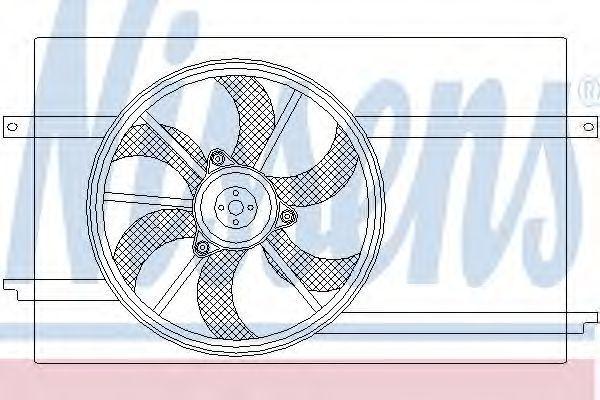 Вентилятор, охлаждение двигателя NISSENS 85590