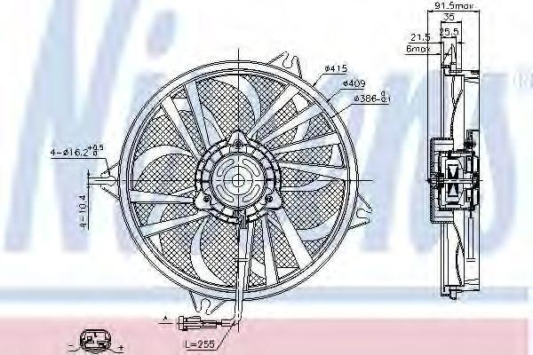 Вентилятор радиатора NISSENS 85605