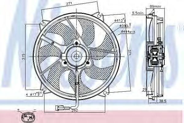 Вентилятор радиатора NISSENS 85606