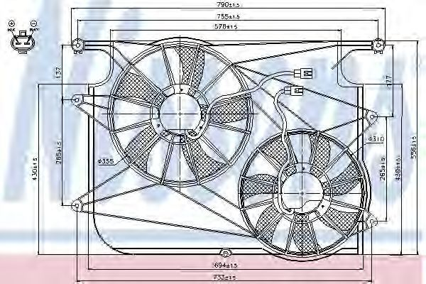Вентилятор радиатора NISSENS 85610