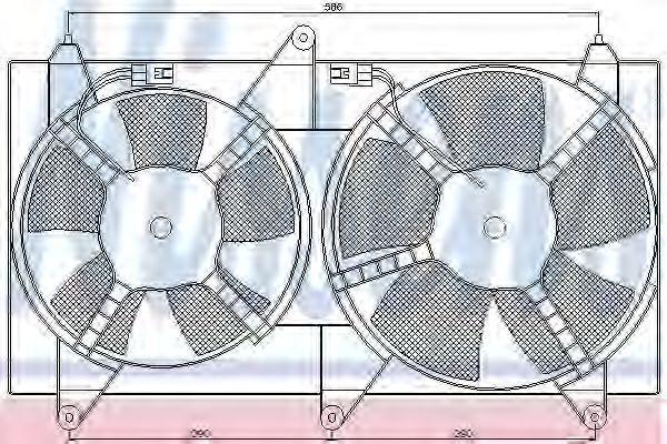 Вентилятор, охлаждение двигателя NISSENS 85611
