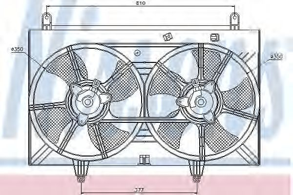 Вентилятор радиатора NISSENS 85615