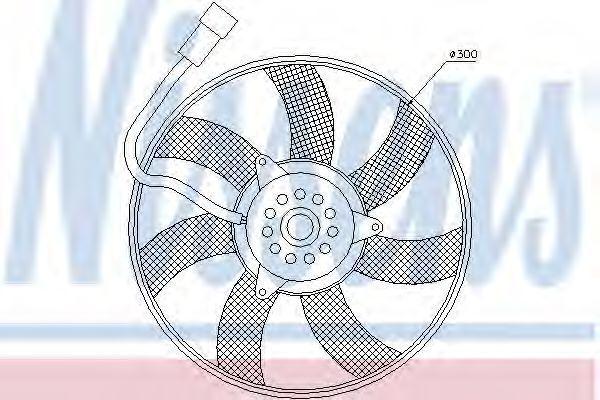 Вентилятор радиатора NISSENS 85617