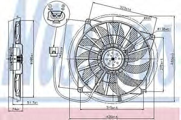 Вентилятор охлаждения двигателя NISSENS 85637