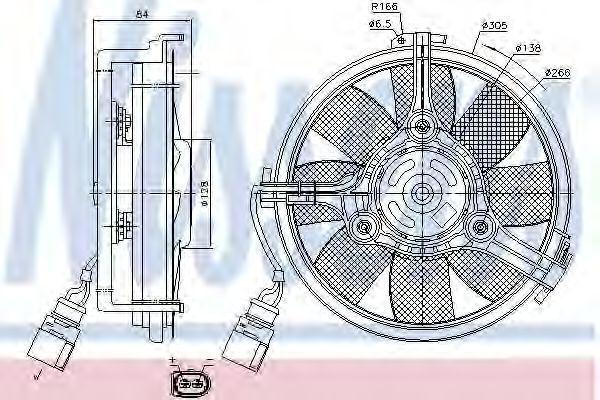 Вентилятор охлаждения двигателя NISSENS 85639