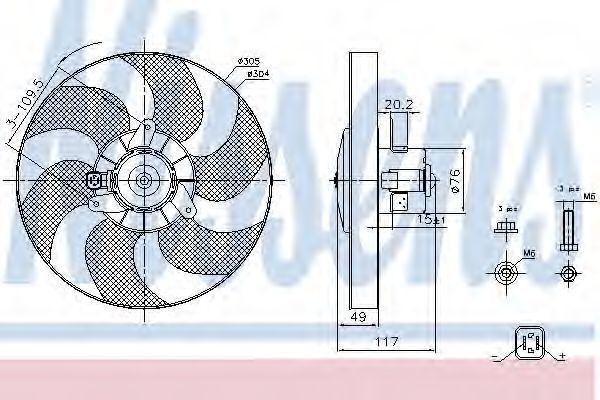 Вентилятор радиатора NISSENS 85658