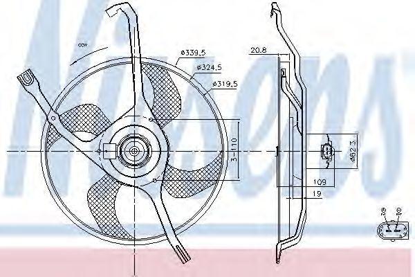 Вентилятор охлаждения двигателя NISSENS 85665