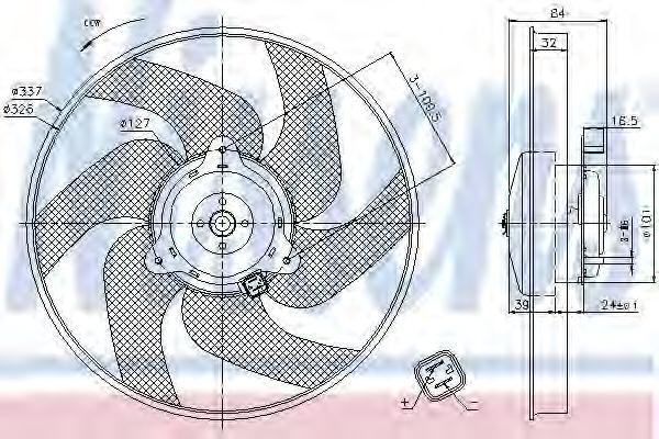 Вентилятор радиатора NISSENS 85666