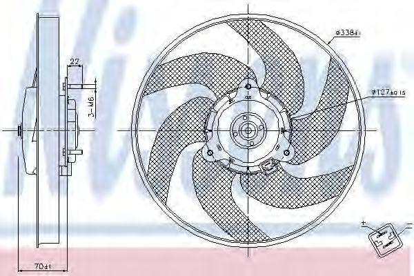 Вентилятор охлаждения двигателя NISSENS 85667