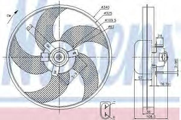 Вентилятор радиатора NISSENS 85668