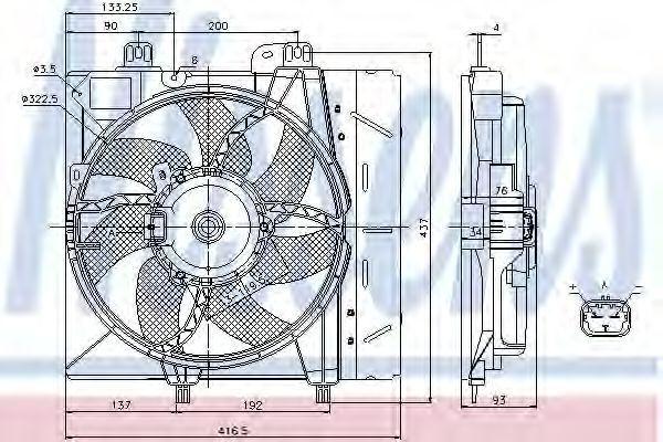 Вентилятор охлаждения двигателя NISSENS 85670