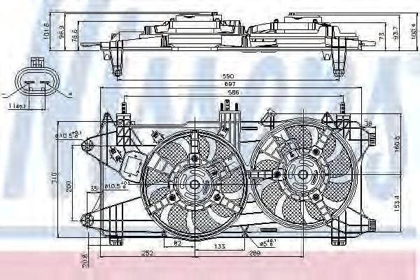 Вентилятор радиатора NISSENS 85689