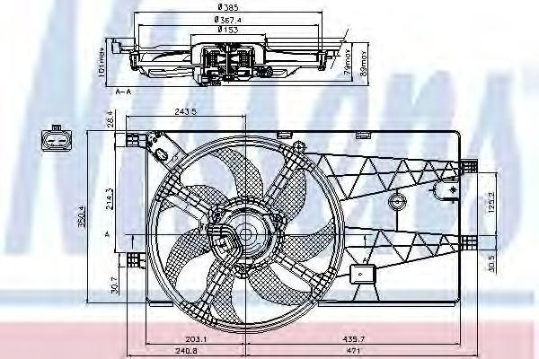 Вентилятор охлаждения NISSENS 85693
