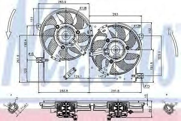 Вентилятор, охлаждение двигателя NISSENS 85696