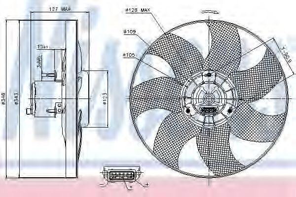 Вентилятор охлаждения двигателя NISSENS 85698