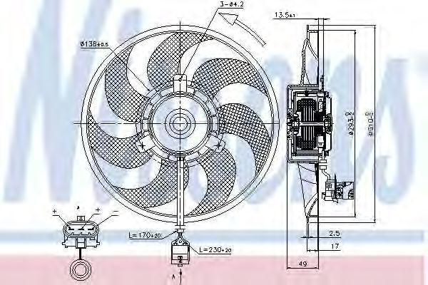 Вентилятор радиатора NISSENS 85703