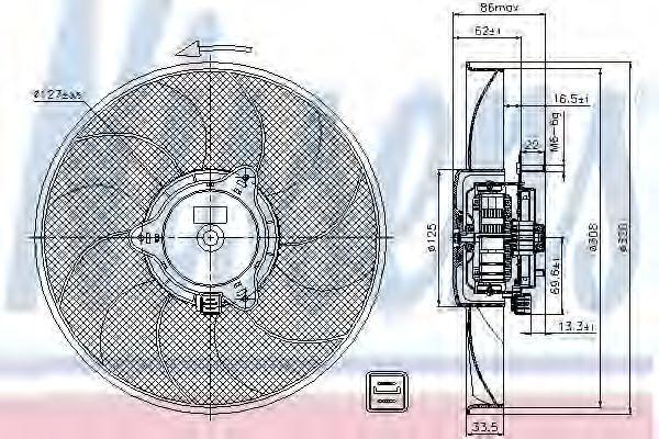 Вентилятор охлаждения двигателя NISSENS 85705