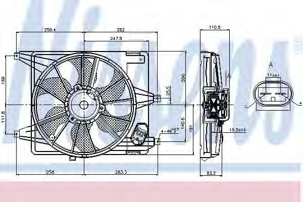 Вентилятор радиатора NISSENS 85708