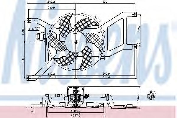 Вентилятор радиатора NISSENS 85709