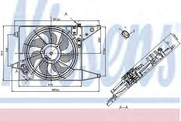 Вентилятор охлаждения NISSENS 85710