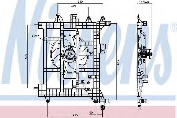 Вентилятор радиатора NISSENS 85711